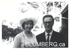Marcia and Henry Blumberg on wedding day.