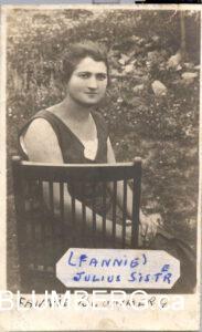 Fannie Blumberg, sister of Julius Blumberg, and Henry's aunt.