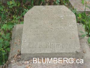 Eide Blumberg Grave in Liepaja