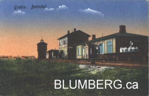 Grobina Railway Station Postcard.