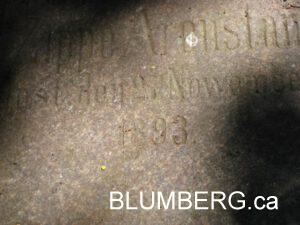 Grave in Grobina Jewish Cemetery.