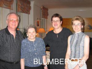 Henry Blumberg, Bella Blumberg, Marcia Blumberg and Rita Bogdanova.