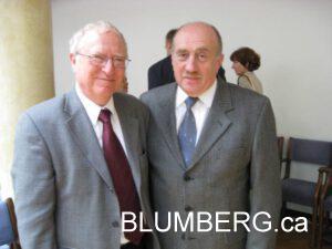 Henry Blumberg and Benjamin Kaem of the Council of the Jewish Communities of Latvia