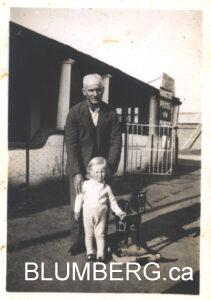 Henry Blumberg and his grandfather Mendel Altschuler.