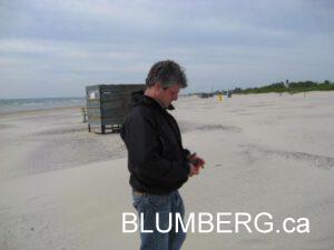 Jonathan Blumberg on Liepaja Beach - May 2008