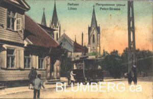 Libau - Johannisplatz Postcard
