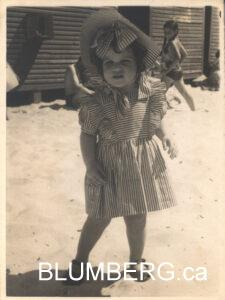 Marcia Blumberg at early age.