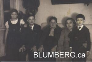 Osana (Ernestine) Blumberg with her son, Leopold, his wife Breina and their children