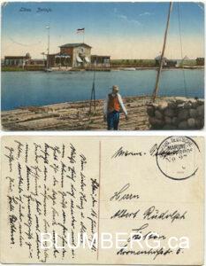 Raft Zetinje Libau Latvia Marine Fieldpost 1916