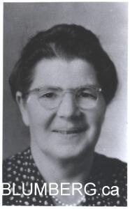 Sadie Sacks - Marcia Blumberg's grandmother.