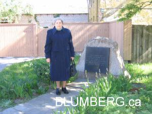 Bella Blumberg had been interned in the Liepaja ghetto.